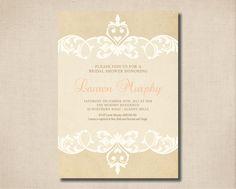 Printable Bridal Shower Invitation  Beautiful by rosiedaydesign, $15.00