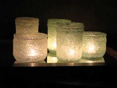 Epsom Salt Luminaries | easy craft with jars