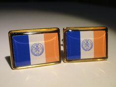 New York City Flag Cufflinks by LoudCufflinks on Etsy