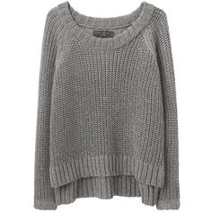 Rag & Bone Sandra Pullover ($245) ❤ liked on Polyvore featuring tops, sweaters, shirts, jumpers, long sleeve sweater, long gray sweater, long shirts, long sleeve jumper and pullover sweaters