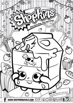 shopkins colour color page spilt milk shopkinsworld - Coloring Sheet Printables