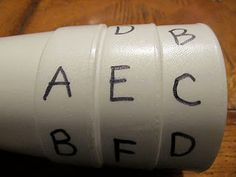 This blog post shows the cups being used for music, but I could see them being used for spelling words or math equations!  Another teacher suggested place value or sequencing numbers.  What do you think you could do with them?