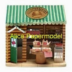 Online Shop [Alice papermodel] bread shop bar beach house huts villa building Indoor scenes sandbox structure models|Aliexpress Mobile