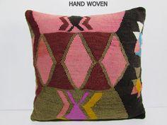 24x24 kilim pillow 24x24 large designer cushion big needlepoint pillow extra large throw pillow slip cover big cushion turkish pillow A880