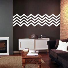 Chevron Pattern - Wall Decals Stripes Vinyl Stickers