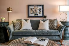 Elevated Eclectic Sofa with Lamps - Artist Retreat