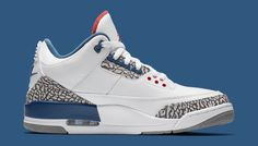 Details about Nike Air Jordan III Retro 3 OG True Blue Size 4-17 White Blue  Cement 854262-106 95ff652dd