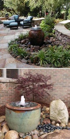7250 Landscaping Ideas & Landscape Designs - Backyard Landscaping Ideas Pictures - Home Garden, Front Yard Landscape Designing Ideas River Rock Landscaping, Small Front Yard Landscaping, Landscaping With Rocks, Landscaping Tips, Garden Landscaping, Florida Landscaping, Landscaping Borders, Privacy Landscaping, Landscape Designs
