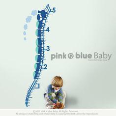 Growth Chart Train  : Nursery Kids Removable Vinyl Wall Decal