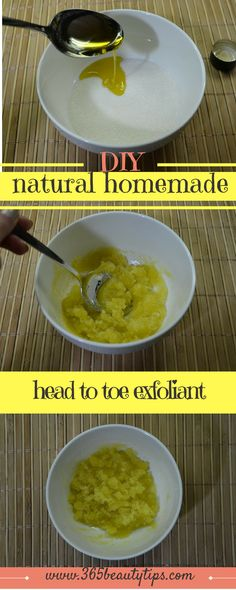 DIY: the simplest, easiest natural homemade exfoliant. I use this scrub more than any other store - bought and it works amazingly well on my skin!