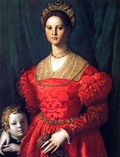 Giovane donna con suo figlio by Agnolo Bronzino - 16th century (ca. 1540), Italian detail from a portrait of a woman with a little boy by Agnolo Bronzino Washington, National Gallery of Art