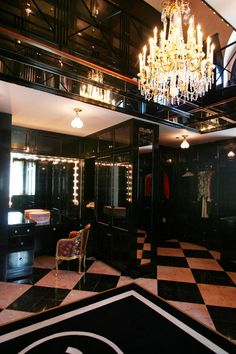 Two story closet in black!