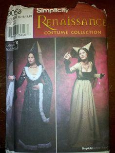 Simplicity 9058 Renaissance Costume Dress & Hat par moongazr, $5,00