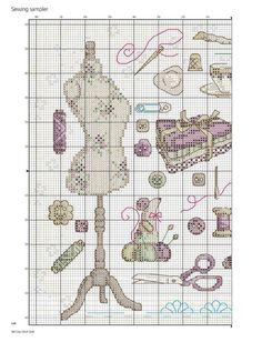 PATRONES PUNTO DE CRUZ GRATIS: Gráfico gratis de un bello cuadro con motivos de costura a punto de cruz