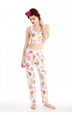 Esme Youth Girl s Short Sleeve Lounge Pant Leggings Pajam ... 9c0c44311