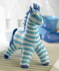 Måske er den søde strikkede hest i virkeligheden en zebra
