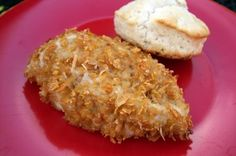 Corn Flake Chicken  2 c. Corn Flake crumbs 1/2 c. grated Romano cheese  4 boneless skinless chicken breasts 2 large eggs. 2 T. milk salt & pepper  Preheat oven to 400 degrees. Mix cereal crumbs in a shallow bowl with grated cheese and salt and pepper. In another shallow dish, lightly beat eggs with milk. Rinse & pat-dry chicken breasts. Dip breasts, one at a time, in egg mixture and then place in bowl with corn flake mixture. Generously pat cereal mixture into chicken on all sides until…