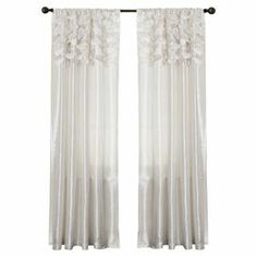 Circle Dream Curtain in White (Set of 2)