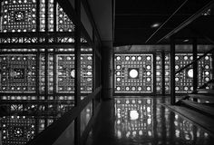 Jean Nouvel designed the Institut du Monde Arabe (Arab world institute) in Paris in 1989. This building is a fabulous example of how surface design, identity and functionality can merge into one.