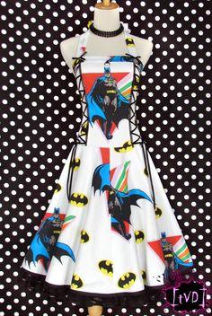 Batman dress! I totally want this dress.