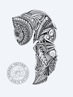 Cool Tribal Tattoos, Tribal Sleeve Tattoos, Sleeve Tattoos For Women, Tattoos For Guys, Polynesian Tattoo Sleeve, Polynesian Tattoo Designs, Maori Tattoo Designs, Lion Head Tattoos, Forearm Tattoos