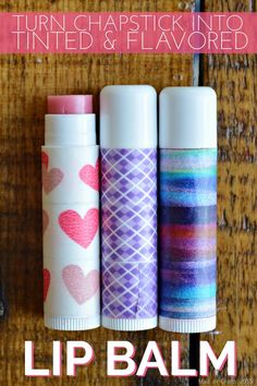 Turn Regular Chapstick into Tinted and Flavored Lip Balm