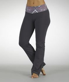 Take a look at this Fuchsia Dream On Flat-Waist Yoga Pants by Marika on #zulily today!