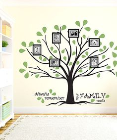 Black & Olive 'Family Roots' Frame & Wall Decal Set. I love this!