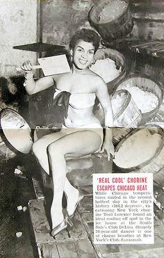 Dancer Toni Lezexier Escapes Chicago Heat - Jet Magazine, July 9, 1953