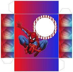 Cumpleaños con Tema Spiderman: Cajas para Imprimir Gratis.