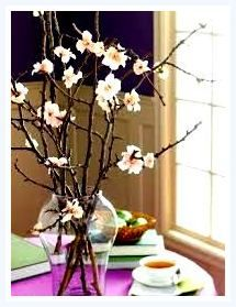 recycled tree branches make the best arrangements. Dogwood silk floral branch arrangement: Google Images > article how to decorate home with tree branches