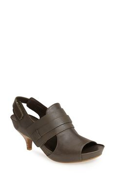 MAXSTUDIO 'Marcel' Leather Kitten Heel Sandal (Women) | Nordstrom