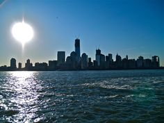 New York City Downtown, just after sunrise, from Jersey City........6.1.12