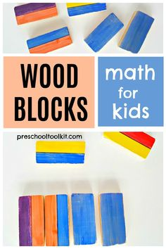 Wooden blocks provide hands-on fun and learning with simple math activities. Kids can use small blocks in everyday play to count, sort and build. #homemadetoys #recycled #handsonlearning Early Math, Simple Math, Homemade Toys, Hands On Learning, Wooden Blocks, Preschool Activities, Count, Play, Creative