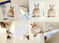Make your own pet pillow using transfer paper and fabric   |   Go Make Me