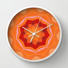 """Star-t party"" Wall Clock / White White (Reloj de Pared /Blanco Blanco) | $30.00"