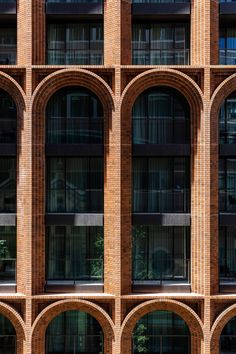 Brick arches are topped by glass tower at Arc by Koichi Takada Architects – – - Architektur Brick Design, Facade Design, Exterior Design, Brick Roof, Brick Archway, Arch Architecture, Architecture Definition, Computer Architecture, Modern Architecture