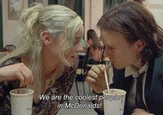 We are the coolest people at McDonald's Series Quotes, Film Quotes, Art Qoutes, Indie Quotes, Grunge Quotes, Heath Ledger, Movie Lines, Quote Aesthetic, Mood Quotes