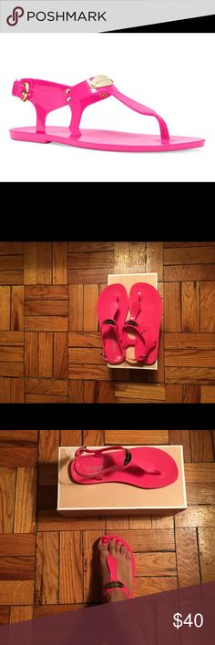 MICHAEL MICHAEL KORS Jelly Sandals Hot pink. Jelly sandals. Great to pair with shorts or a dress. Awesome to wear on your next island/tropical vacation. Comes with box. MICHAEL Michael Kors Shoes Sandals