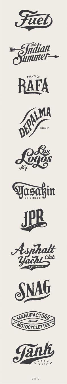 Typography  BMD Design / Art Logos