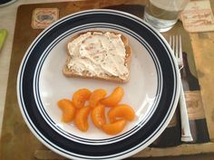 After the Military diet breakfast substitution. Day #1. 35 calorie whole wheat toast. 2 tbs of 1/3 less fat garden vegetable cream cheese spread (or your favorite flavor) and 1/2 cup mandarin oranges. Coffee, tea or water. You'll be surprised at how filling this breakfast is and low cal! Who needs greasy breakfasts, not this girl!