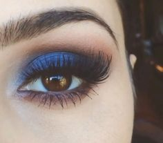 Blue brown makeup