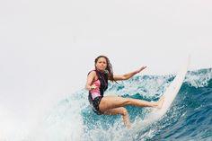 Team rider Bruna Schmitz in Tahiti