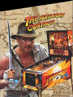 Flipperautomat Indiana Jones Williams 1992