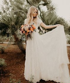 modest wedding dress with half sleeves from alta moda bridal (modest bridal gowns) photo by @lex.photoandfilm