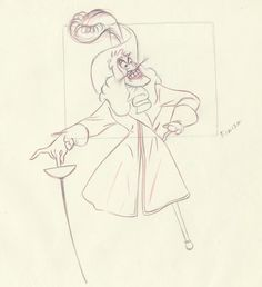 Peter Pan... Captain Hook... Production Animation Drawing..