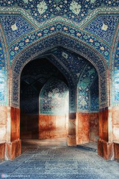 interior arches, imam mosque. isfahan (esfahan), iran | islamic art + architecture