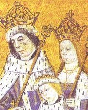 KING EDWARD IV, QUEEN ELIZABETH & PRINCE EDWARD - WAS TO BE THE FUTURE EDWARD V. HIS DISAPPEARANCE IS STILL A MYSTERY.