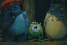 My Neighbors Tototro, Mike, and Sulley.