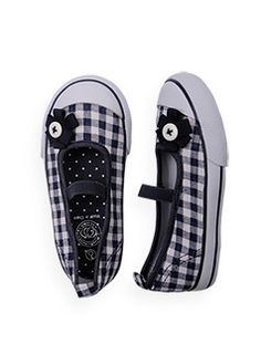 gingham ballerinas    style number: S1FW30021  size: 1 to 13  $29.99 now $12.00